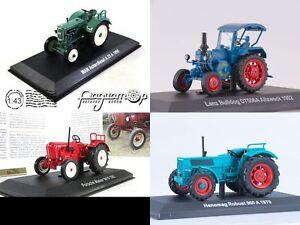 Tractor MAN Ackerdiesel, Hanomag, Lanz Bulldog, Porsche Master. Metal model 1:43