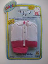 "u pink Warm up set WEBKINZ PET CLOTHING 8"" doll bear new with code"