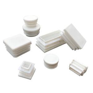 4PCS Square/Rectangular/Round Plug PE Plastic Blanking End Caps Cap Tube Pipe