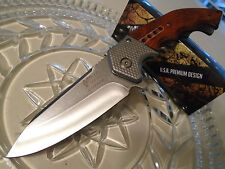 Mtech Xtreme Assisted Open Stone Wash Steampunk Hunter Pocket Knife A829SW 440