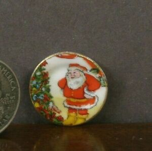 CHINA  CHRISTMAS  DISPLAY  COOKIE PLATE ~Dollhouse~ England ~Marked~ 1:12 scale