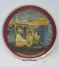 """Limoges Charger -Edouard Manet """"Manet peignant sur son bateau-atelier"""" [2ra]"""