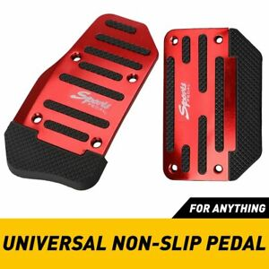2X Universal RED Non-Slip Automatic Gas Brake Foot Pedal Pad Cover For Car Truck