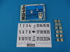 Marklin 7195 Number Plate set - Nummernschildgarnitur