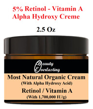 *5% Retinol &Alpha Hydroxy Crème Vitamin A MOST Potent-1,700,000iu/g 2.5oz BEST!