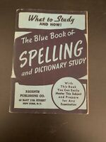 "Vintage 1944 Paperback ""The Blue Book of Spelling"" What to Study and How 9780394"