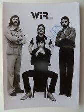 Band WIR, alte DDR Karte (mit einer originalen Unterschrift - Ziegler)