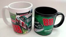 Two New Dale Earnhardt Jr Mountain Dew, Amp, National Guard Ceramic Coffee Cups