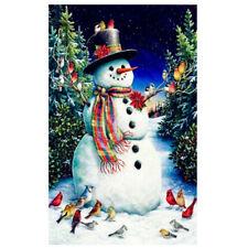 Christmas 5D DIY Diamond Painting Snowman Embroidery Cross Stitch Art Home Decor