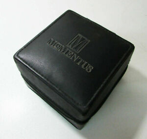 Vintage Momentus Watch Box - Black Leather Made zippered Box