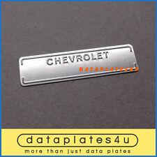 CHEVROLET DATA PLATE ID TAG 1953-1963 CHEVROLET CARS TRUCKS CORVETTE DATAPLATE