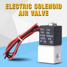 12V 1/4'' 2 Way Pneumatic Aluminum Electric Solenoid Air Valve Normally Closed