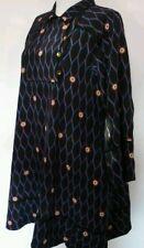 Kenzo x H&M robe en soie noir et bleu taille 38