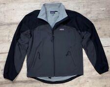 Men`s PATAGONIA Grey Windbreaker Jacket Full Zip Size M-L Hoodie