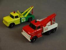 Vtg Matchbox Lesney Wrecker Truck Lot #13 Dodge BP & #71 Ford Heavy Esso Wreck