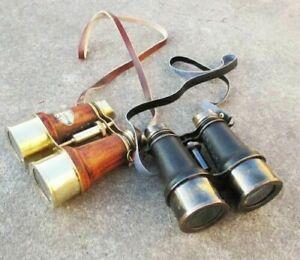 Nautical Brass Binocular Maritime Binocular Set of 2 Pieces Binocular