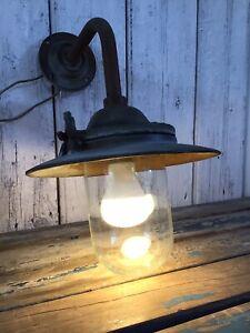 Vintage Rare GEC 02257 Swan Neck Street/Garden Lamp Light Full Working Order