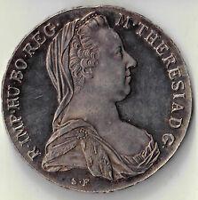 1780 MOTHER THERESA RE STRIKE AUSTRIAN THALER TRADE DOLLAR SILVER COIN #71724DBW
