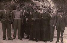 CARTOLINA FOTOGRAFICA ALBENGA 1945 - DON STRAZZI DON MELANI TOMATIS -  C4-1406