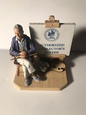 """Norman Rockwell Figurine """"Authorized Collector'S Center"""" 1981"""