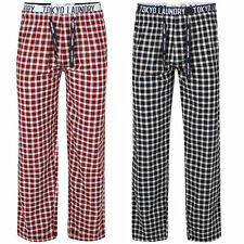 Cotton Check Long Pyjama Bottoms No Nightwear for Men