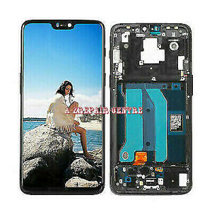 New For OnePlus 6 A6000 A6003 LCD Screen Touch Digitizer Assembly Replace ±Frame