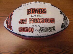 JIM HARBAUGH -1992 GAME BALL - Autographed - Chicago BEARS 41 Atlanta FALCONS 31
