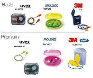 UVEX MOLDEX Gehörschutz Ohrstöpsel Lärm Schlafen Musik Arbeit Whisper Hygienbox