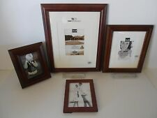Lot of 4 Picture Frames, 4x6, 5x7, 8x10, 11x14, Shades of Walnut Stain