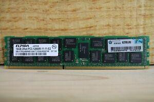 Lot of 8 Elpida 16GB 2Rx4 PC3-12800R-11-11-E2 EBJ17RG4BBWD-GN-F (AMX)