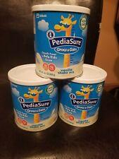 PACK OF 3 PediaSure Grow & Gain Non-GMO Vanilla Shake Mix 14.1oz Each 12/2020