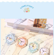 Unisex Watch For Girls Boys Kids Child Party Gifts Wrist Cartoon Silicone Clear