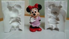 3D MINNIE MOUSE TWO PIECE SILICONE MOULD FOR CAKE TOPPERS CHOCOLATE, CLAY ETC