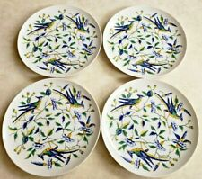 Fitz and Floyd for Neiman Marcus 4 Exotic Birds Porcelain Salad/Dessert Plates