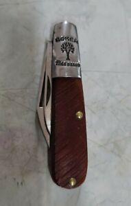 BOKER TREE BRAND (Solingen) #493 Barlow, Saw Cut Delrin Handles, Used Knife