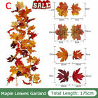 Artificial Autumn Fall Maple Leaves Garland Hanging Plant Halloween Home Decor F
