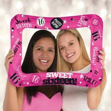 "16 x 23"" SWEET 16 SIXTEEN INFLATABLE FRAME FOIL BALLOON PARTY DECORATIONS GIRLS"