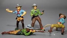4 vecchie Elastolin massa figure 7,5 cm Wild West Cowboy # 461