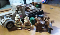 WW2 226Pcs Japanese Military Truck & 3 Pcs Lego Minifigures MOC Soldiers Weapons