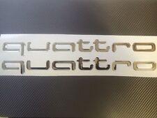 AUDI Quattro 3D Premium  Decals Stickers 2pc. TT RS S3 A4 S4 S5 S6 S8 S-line
