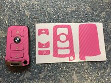 Carbon Pink Schlüssel Folie BMW Key E67 5er E67  6er 7er E65 E66 E M 3-Tasten