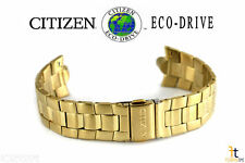Citizen Eco-Drive BM8082-53P Gold-Tone Stainless Steel Watch Band BM8082-53W