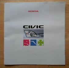 HONDA Civic orig 2000 UK Mkt Large Format Sales Brochure