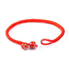 Lady Good Luck Hand Braided Lucky Red String Rope Cord Ceramic Bracelet Gift