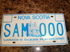 NOVA SCOTIA SAMPLE LICENSE PLATE SAM 000