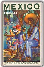 MEXICO XOCHIMILCO VINTAGE FRIDGE MAGNET IMAN NEVERA
