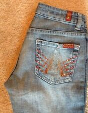 7 For All Mankind A Pocket Skull Embroidered Crystal Sz 24 25x31 Women
