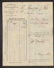 """MARSEILLE (13) USINE de CONFECTION ,VETEMENTS sur mesure """"E. PAUZIN & Fils"""" 1909"""