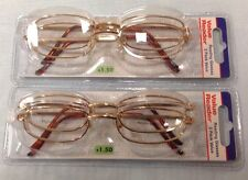 LOT OF 4 PAIRS COPPER COLOR FOSTER GRANT MAGNIVISION READING GLASSES +1.50 NEW