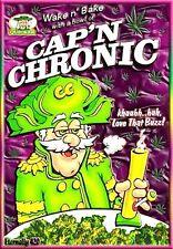 "3.25"" Funny Marijuana STICKER. CAP'N CHRONIC. Crunch, Great for Glass bong 420"